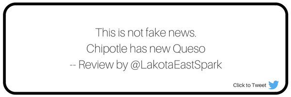 Chipotle Queso Review by Leah Boehner on Lakota East Spark Cincinnati Ohio Staff Online Culture Chipotle's New Cheesy Joke